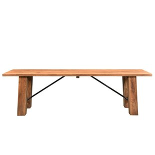 Loon Peak Mill Valley Acacia Wood Bench