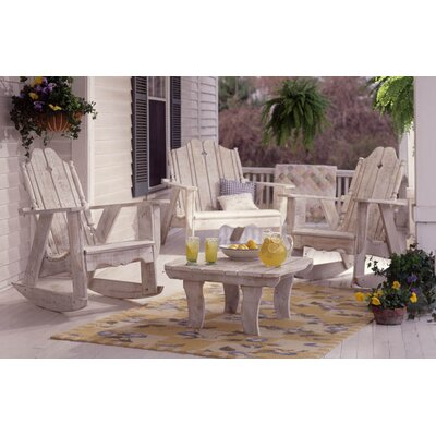 Nantucket Wood Rocking Adirondack Chair Uwharrie Chair Finish: Butter (Distressed)