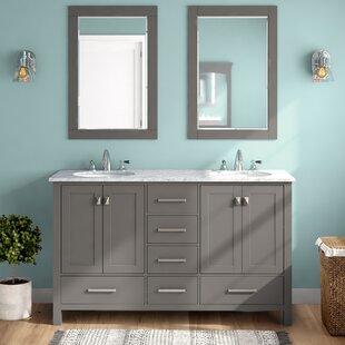Newtown 60 Double Vanity Set with Mirror ByBeachcrest Home