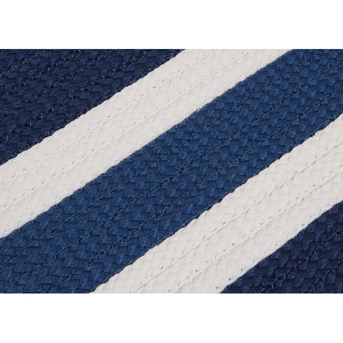 Eagle Lake Nautical Hand Woven Blue Indoor Outdoor Area Rug