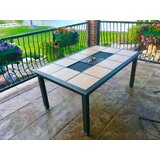 Moskowitz Metal Outdoor Patio Table