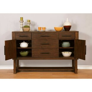 Westlake Well-designed Wooden Server with Storage Drawers
