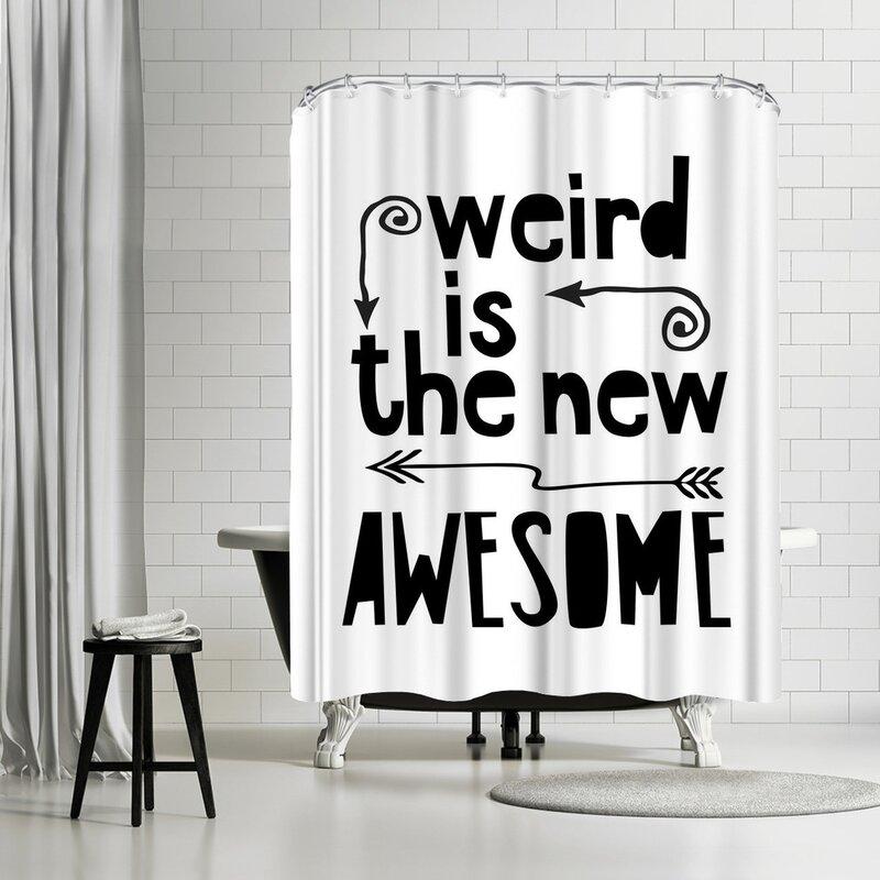 Lebens Art Awesome Weird Shower Curtain