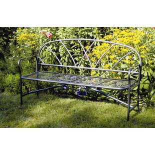 Lattice Wrought Iron Garden Bench