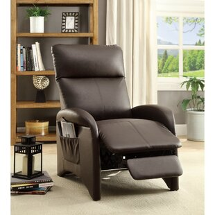 Centers High Back and Side Pocket Manual Recliner by Ebern Designs