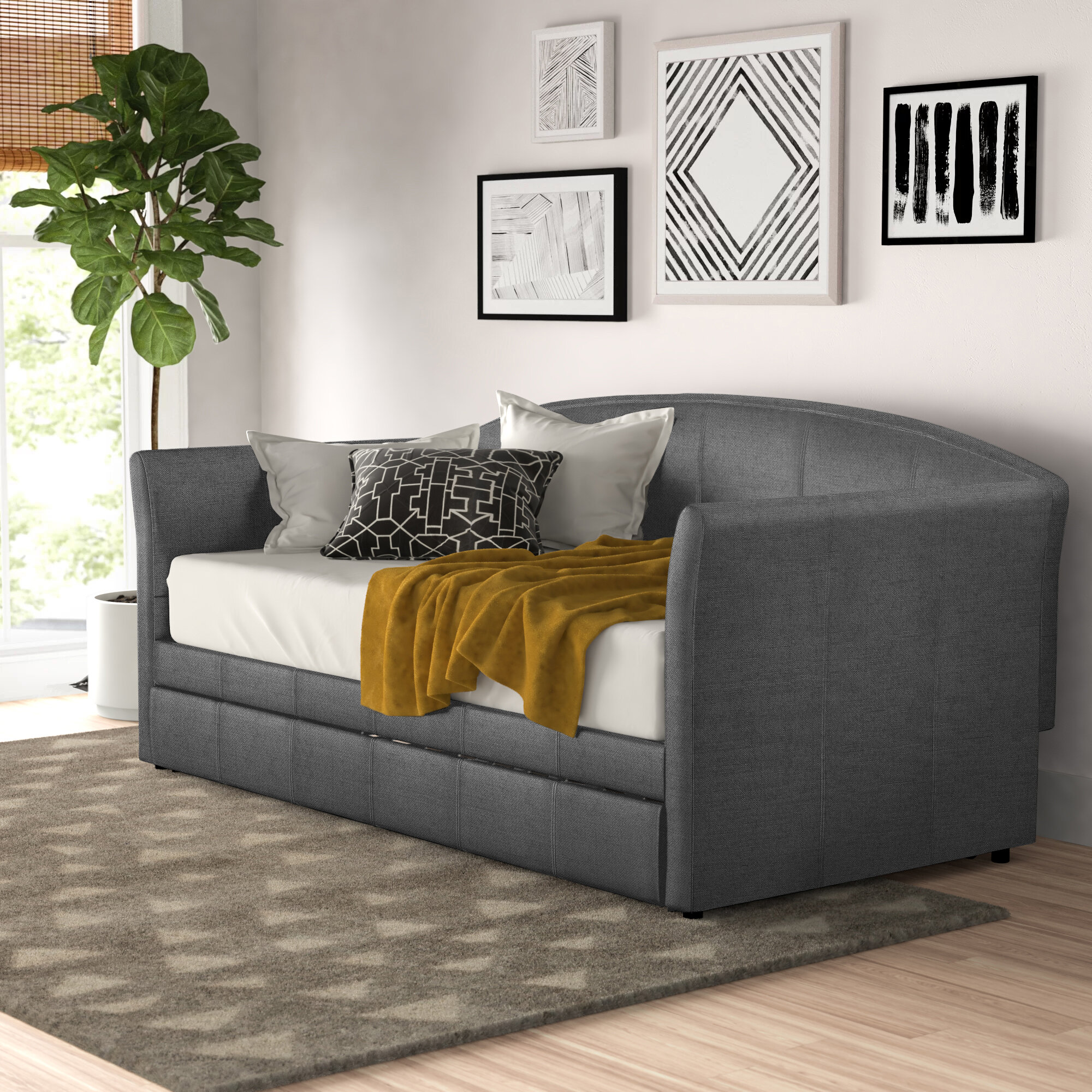 Zipcode Design Turrell Twin Daybed With Trundle Reviews Wayfair