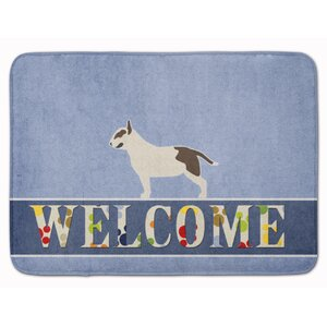 Bull Terrier Welcome Memory Foam Bath Rug