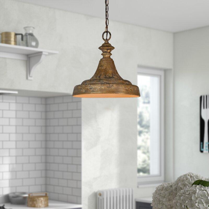Gracie Oaks Cutlerville 1 Light Single Dome Pendant Reviews Wayfair