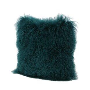 Kingstowne Shaggy Lamb Fur Throw Pillow