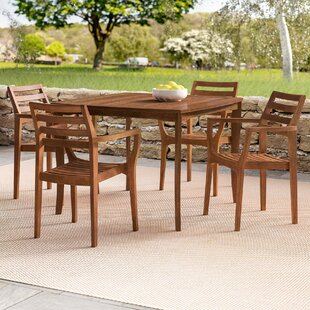 Beachcrest Home Mallie Tapered Square 5 Piece Dining Set