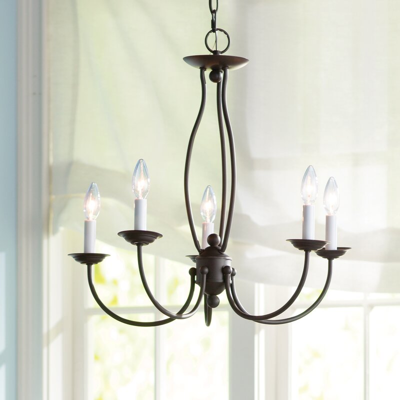 Perfect Williams 5 Light Candle Style Chandelier