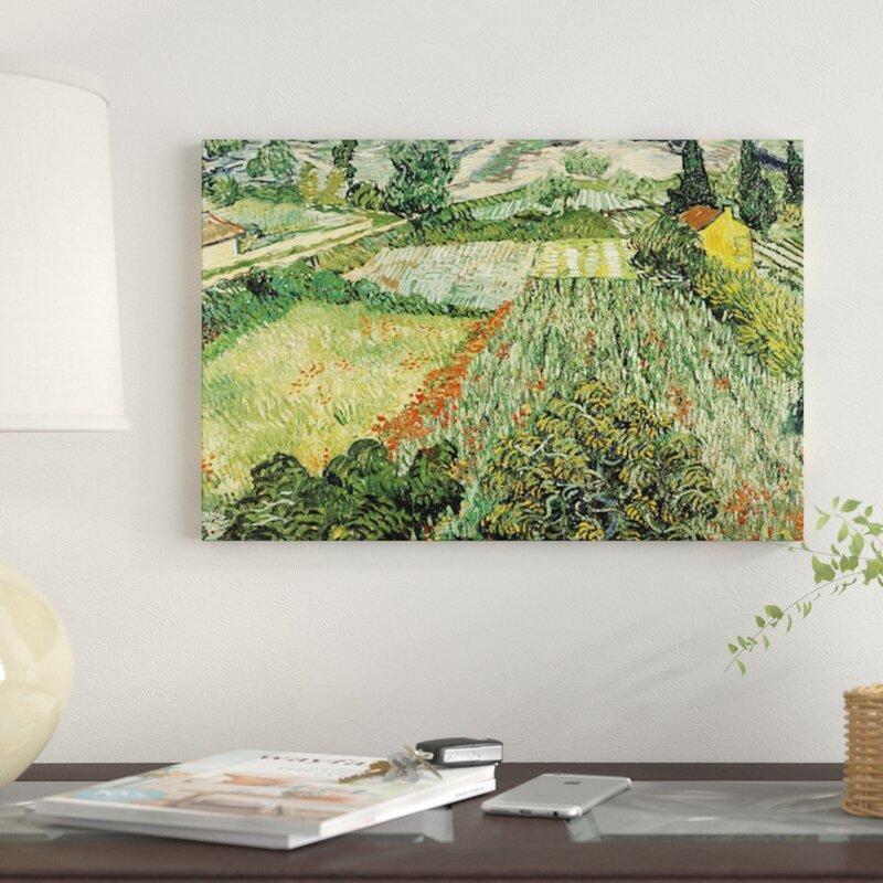 Vault W Artwork Feld Mit Mohnblumen By Vincent Van Gogh Graphic Art Print On Canvas Wayfair
