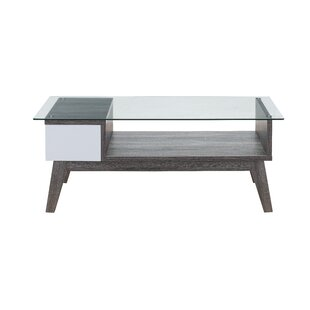 Lana Glass Coffee Table with Tray Top by George Oliver