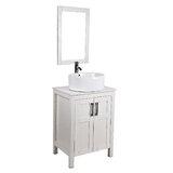 Gershom 24 Single Bathroom Vanity Set with Mirror by Ebern Designs