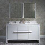 Artemis 61 Double Bathroom Vanity Set with Mirror by Ivy Bronx