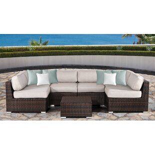 Bayou Breeze Archie 7 Piece Sectional Set with Cushions