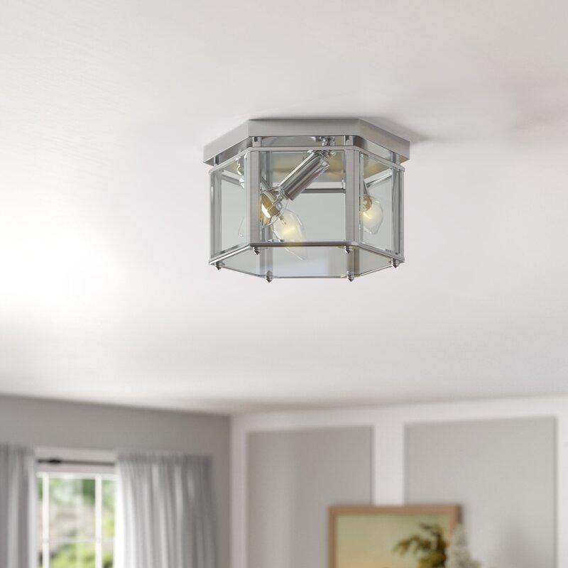 Charlton Home Pinecrest 3 Light 10 Flush Mount Reviews Wayfair