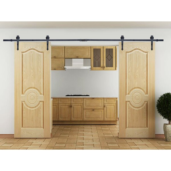 Calhome Classic Vintage Arrow Sliding Standard Double Track Barn Door Hardware Kit Reviews Wayfair