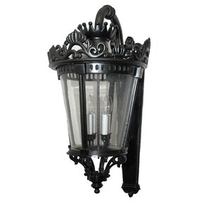 Pierron Traditional 3-Light Outdoor Wall ..