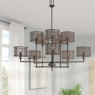17 Stories Falite 10-Light Shaded Chandelier