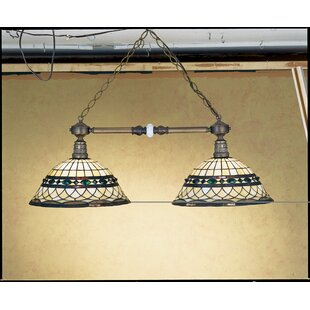 Compare prices Victorian Tiffany Roman 2-Light Pool Table Light By Meyda Tiffany