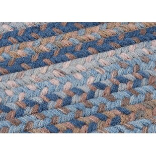 Oak Harbour Laguna Braided Wool Blue/Brown Area Rug by Colonial Mills