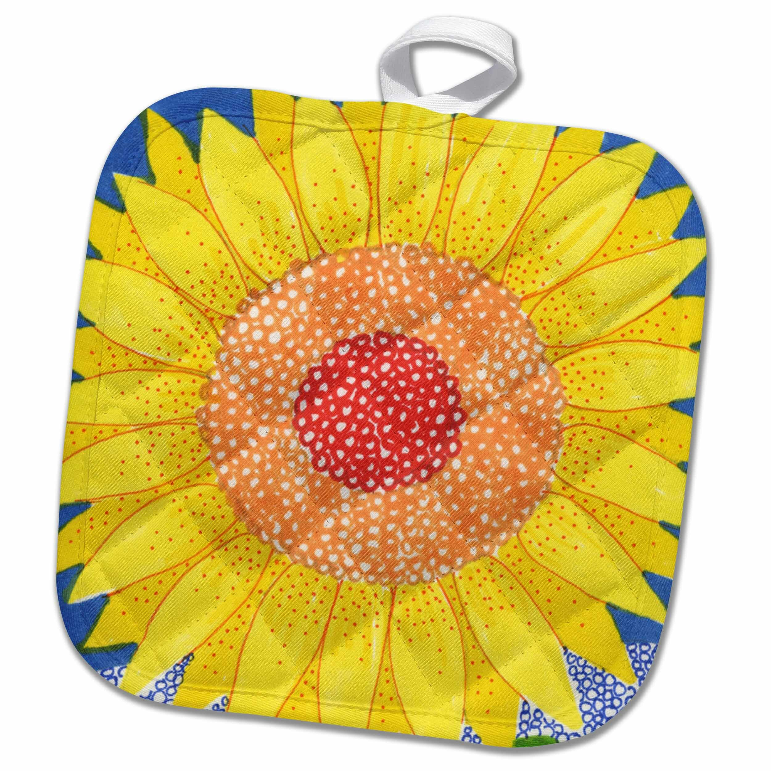 3drose Sunflower Bright Potholder Wayfair