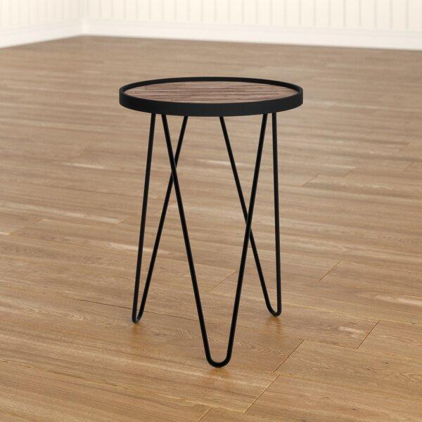 Lev Wood Metal Side Table Wayfaircouk