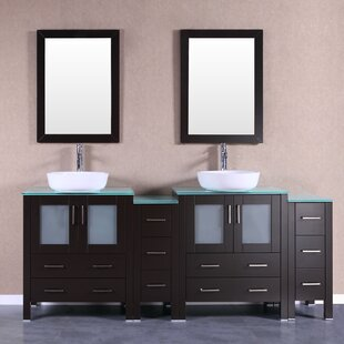 Astaire 84 Double Bathroom Vanity Set with Mirror by Bosconi