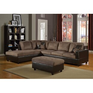 Fearn Sectional With Ottoman by Winston Porter Design