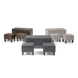 Washington Mews 3 Piece Storage Bench Set by Red Barrel Studio