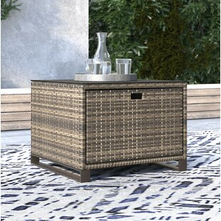 Oceanside Outdoor Wicker Side Table