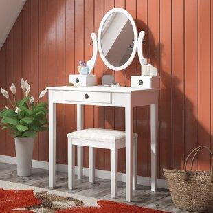 Duckworth Vanity Set with Mirror by Harriet Bee