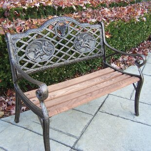 Oakland Living Angel Kiddy Wood and Cast Iron Park Bench