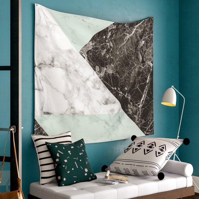 East Urban Home Marble Wall Tapestry Wayfairca