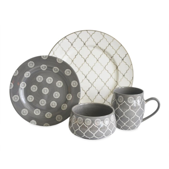baum moroccan 16 piece dinnerware set, service for 4 & reviews