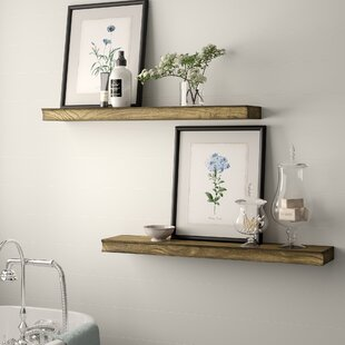 Hedrick 2 Piece Floating Shelf Set