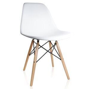 Whiteaker Molded Plastic Dining Chair by Varick Gallery