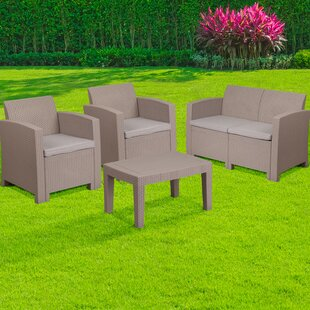 Resch 4 Piece Sofa Set with Cushions