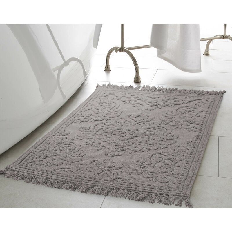 Wonderful Angelena Cotton Fringe 2 Piece Bath Rug Set