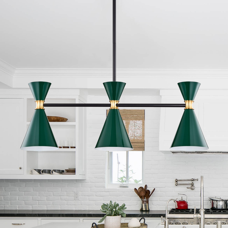 Corrigan Studio Ardicoan 3 Light Kitchen Island Linear Pendant Reviews Wayfair