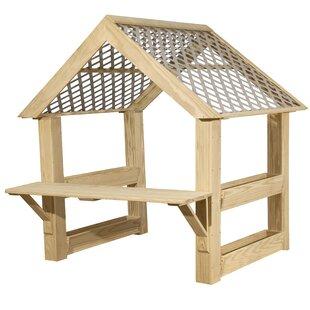 Outdoor Garden Center 6.4' X 6.25' Playhouse By Wood Designs