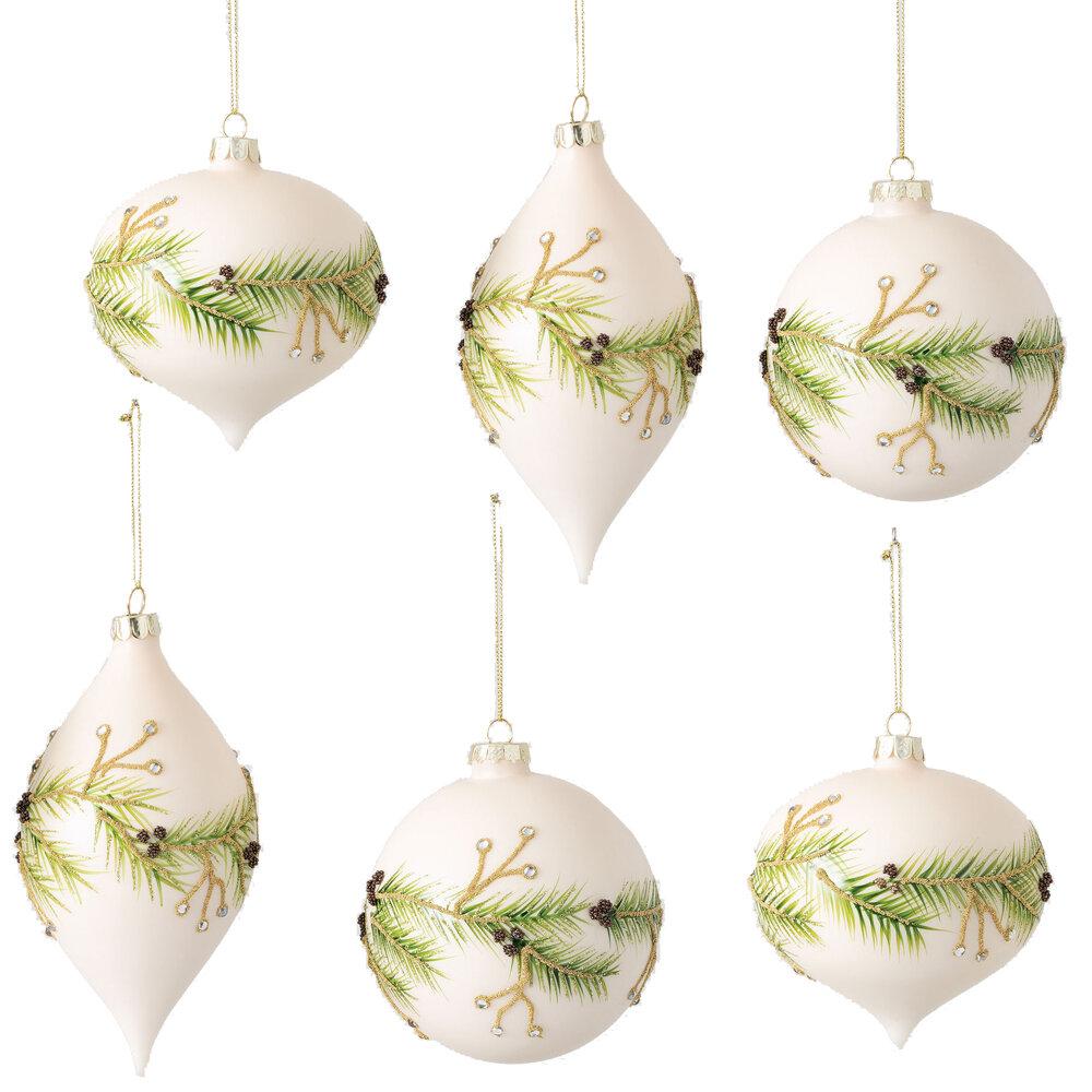The Holiday Aisle 6 Piece Pine Onion Finial Ball Ornament Set Reviews Wayfair
