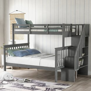 Raposa Twin over Full Bunk Bed with Shelves by Harriet Bee