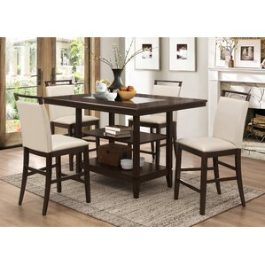 Winchester 5 Piece Counter Height Dining Set by BestMasterFurniture