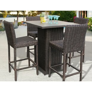 Rosecliff Heights Eldredge 5 Piece Bar Height Dining Set