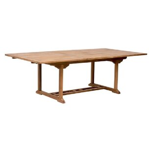 Longshore Tides Holland Extendable Teak Dining Table