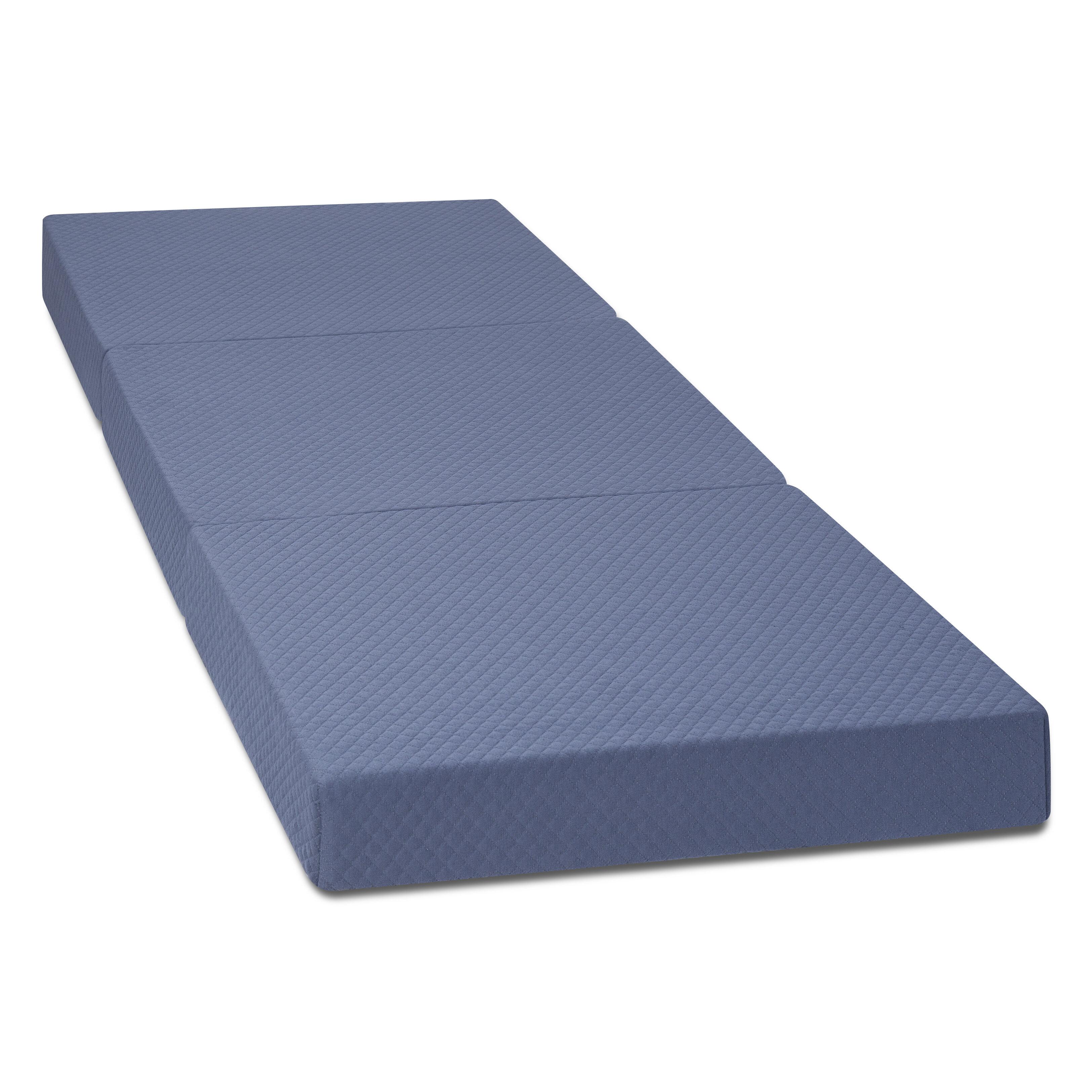 Folding Mattress Portable Foam Bed  Gym Mat  Guest Sleepover Yoga Camping