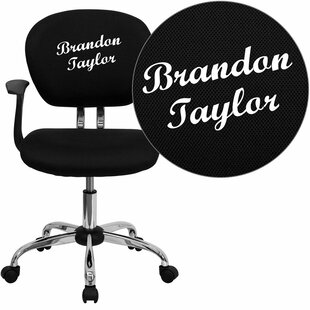 Symple Stuff Krouse Personalized Mid-Back Mesh Swivel Office Chair
