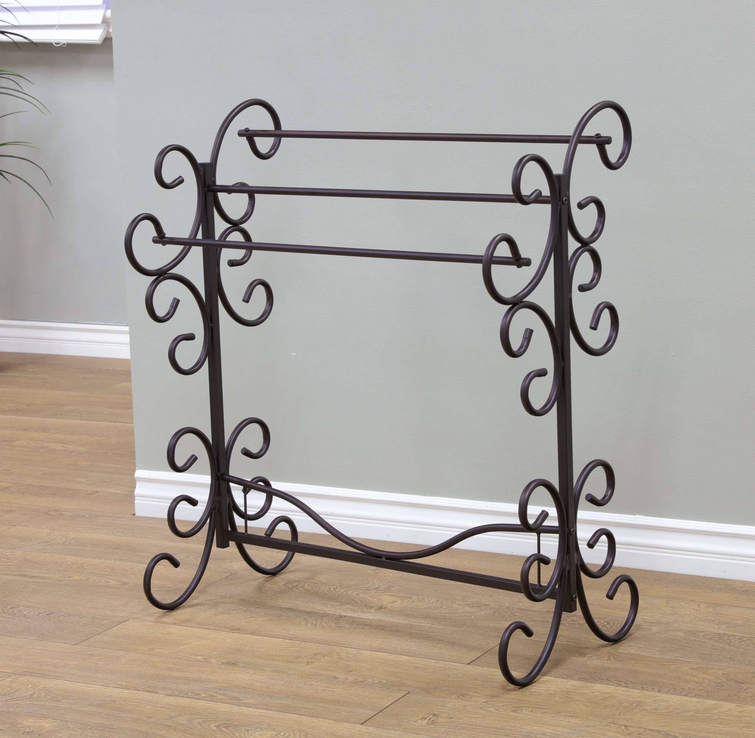 Fleur De Lis Living Metal Scroll Quilt Rack & Reviews | Wayfair : metal quilt rack - Adamdwight.com